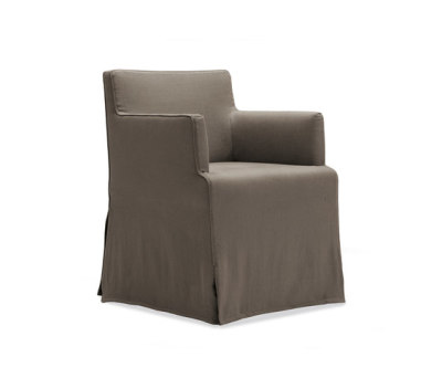 Velvet Due chair by Poliform