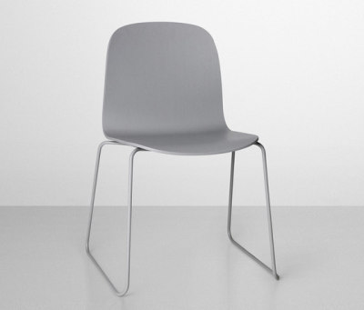 Visu Chair | sled base Grey