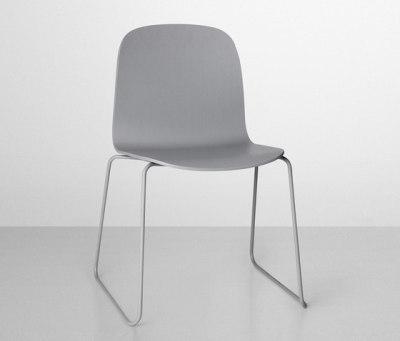 Visu Chair | sled base Grey