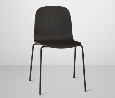 Visu Chair | tube base Black/Black