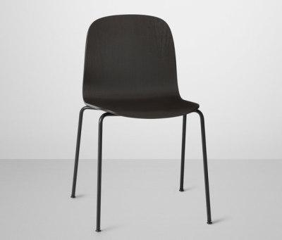 Visu Chair | tube base Black/Black