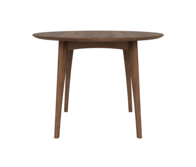 Walnut Osso round table high by Ethnicraft