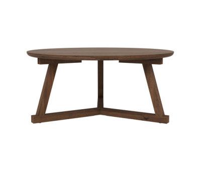 Walnut Tripod coffee table by Ethnicraft