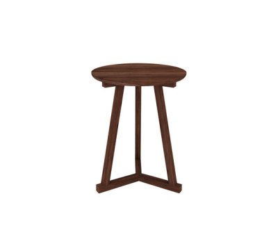 Walnut Tripod side table 46 x 46 x 56 cm