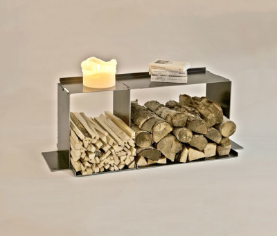 wineTee® wood log holder L | sideboard by lebenszubehoer by stef's