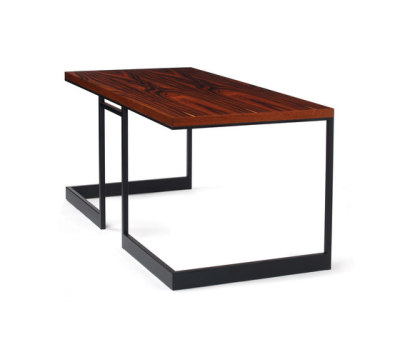 wishbone slab top desk by Skram