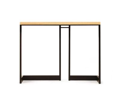wishbone slab top high table by Skram