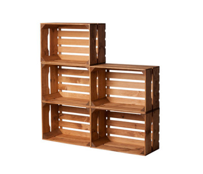 WOOD CRATE 2 LARGE by Noodles Noodles & Noodles Corp.