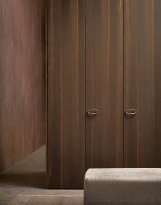 Wood wardrobe by Flou