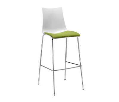 Zebra Antischock stool 4-legs frame by Scab Design