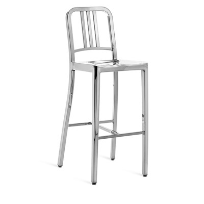 1006 Navy Barstool Hand Polished
