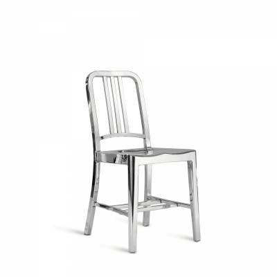 1006 Navy Dinig Chair Hand Polished