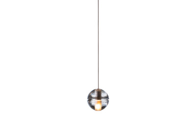 14.1 Single Pendant Amber, Deep Canopy, LED, Wet