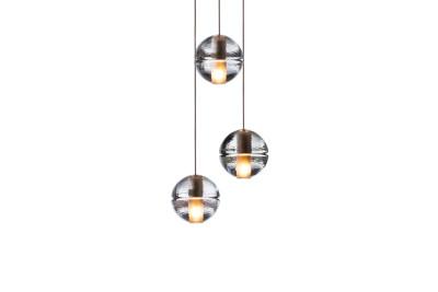 14.3 Three Pendant Chandelier Amber, LED, Wet