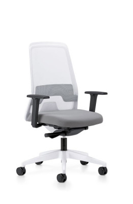 172E Swivel chair black with mesh back, king anthracite, frame brilliant silver, parts black, with brilliant silver base, soft double castors