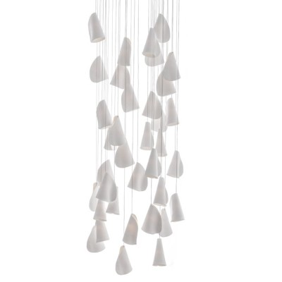 21.36 Rectangular Chandelier White, Xenon