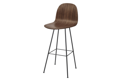 2D 3FE Centre-base Bar Stool American Walnut