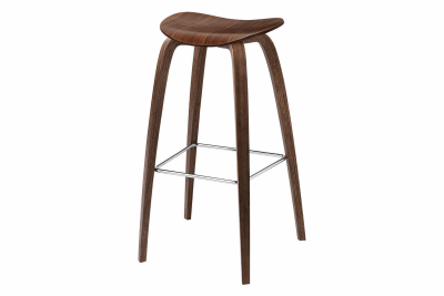 2D Wood-base Bar Stool American Walnut, 75 cm Height