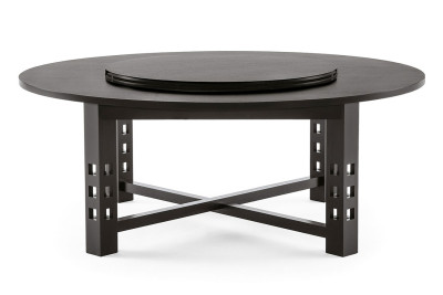 304 G.S.A. Round Dining Table Black Stained Ash