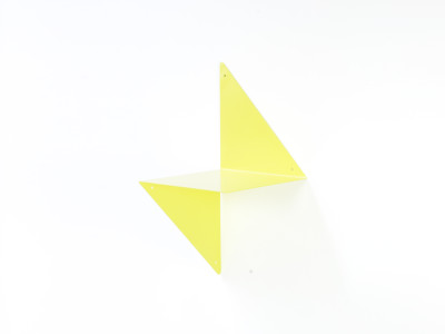 3D Modular Shelf Bright Yellow