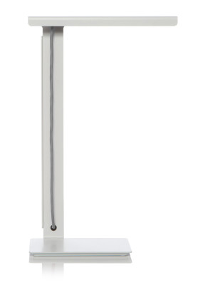 490 LED Desk Lamp White with Silver Cable