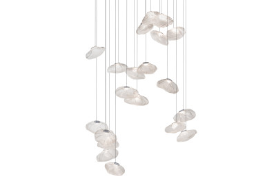 73.20 Square Chandelier Blue