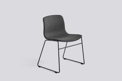 About A Chair AAC08 with front upholstery Surface by Hay 120, Black, Black Powder coated Steel