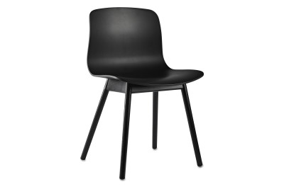 About A Chair AAC12 Black Seat and Black Stained Base