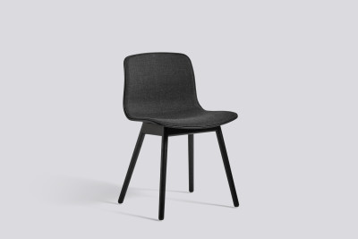 About A Chair AAC12 with front upholstery Surface by Hay 120, Black, Soaped Solid oak