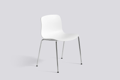 About A Chair AAC16 White, Polished Aluminium