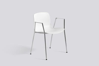 About A Chair AAC18 White, Polished Aluminium