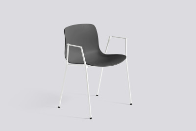 About A Chair AAC18 Black, White Powder Coated Steel