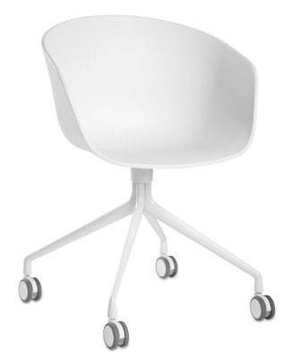 About A Chair AAC24 White Powder Coated Aluminium, Black