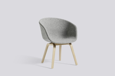 About A Chair AAC43 Upholstered Dining Chair, Matt Lacquered Oak Legs Hallingdal 65 100