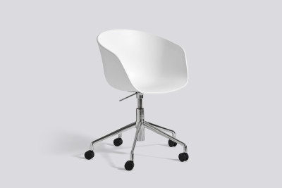 About A Chair AAC52 Black, White Powder Coated Steel