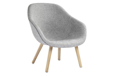 About A Lounge Chair AAL82, Lacquered Oak Legs Divina Melange 2 120