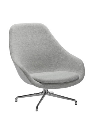 About A Lounge Chair AAL91 Compound 0001, Polished Aluminium Base