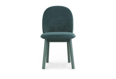 Ace Dining Chair Lake Blue Velour