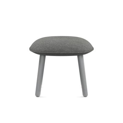 Ace Footstool Nist Grey, Stained Beech