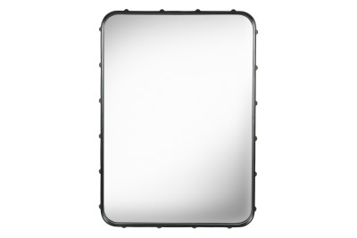 Adnet Rectangular Mirror Black, Small