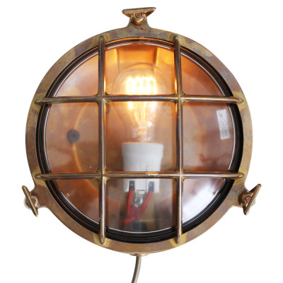 Adoo Marine Nautical Wall Light Antique Brass