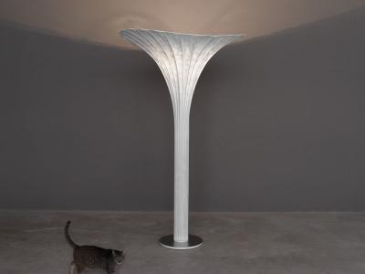 Africa Floor Lamp Orange, Transparent Cable