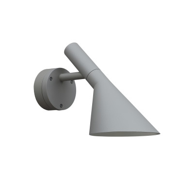 AJ 50 Outdoor Wall Light Aluminium Coloured