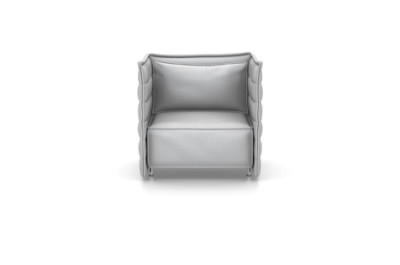 Alcove Plume Contract Fauteuil Laser 17 ice blue/ivory, 01 chrome
