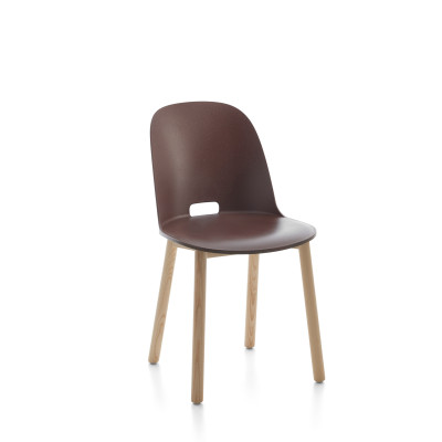 Alfi Chair, High Back Red, Dark Stained Ash Frame