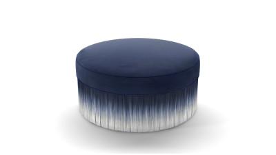 Amami Pouf 80cm, Lario Blue