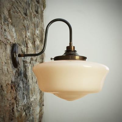 Anath Swan Neck Wall Light  Antique Brass