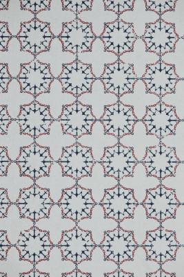 Anchor Tile Wallpaper  White