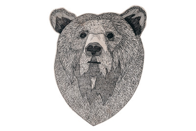 Animal Illustration Bear in the Wood Bear