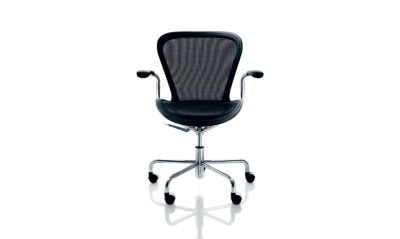 Annett Office Chair Black, Chromed Base